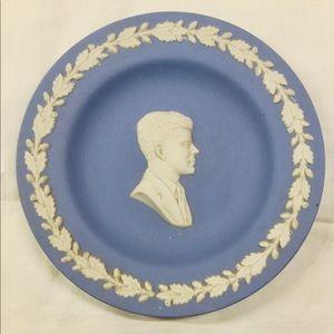 John F Kennedy Wedgwood jasperware plate
